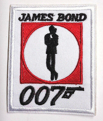 """James Bond Logo 3"""" Tall Embroidered Patch-USA Mailed (JBPA-006)"""