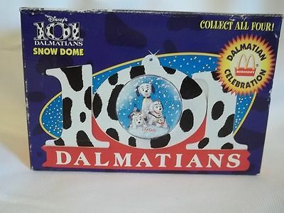 McDonalds 101 Dalmatians Snow Dome Globe 1996 Disney