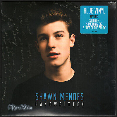 Shawn Mendes - Handwritten (2015) [SEALED] BLUE Vinyl; Stitches, Life of Party
