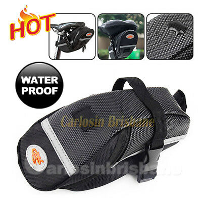 Bicycle Seat Bag Bike Back Saddle Outdoor Pouch Cycling Black Waterproof
