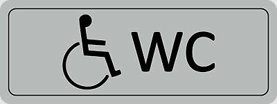Doorplate handicap WC selfsticking 45 x 120 mm