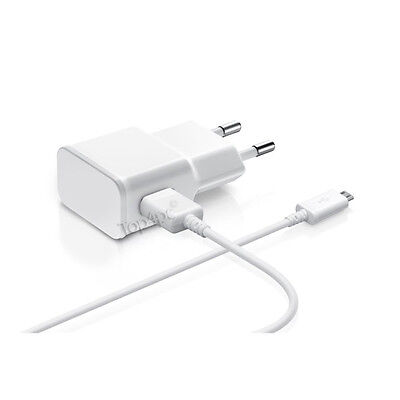 Chargeur Samsung Galaxy S6 S5 S4 S3 Note Micro Usb Kit 2 En 1 Cable + Secteur 2A