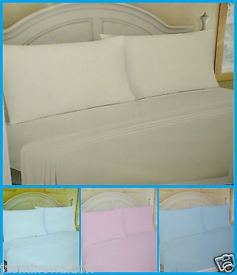 100% Cotton Flannelette Sheets, Soft Brushed Cotton Fitted Sheet Or Pillow Cases