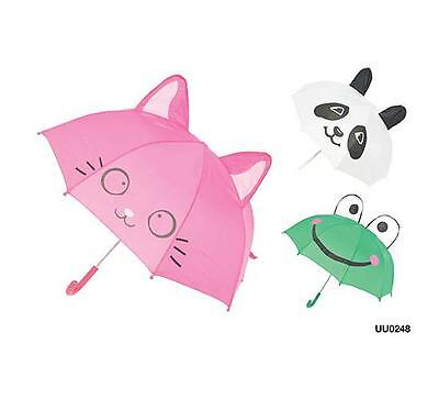 KS Brands UU0248 Kids Novelty 3D Animal Umbrella With Ears Assorted Designs New