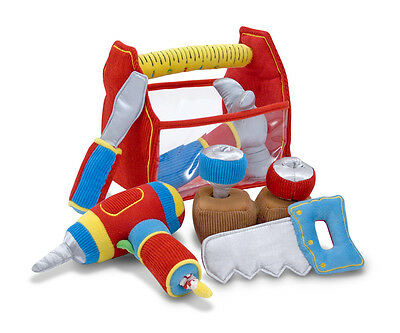 First Play Deluxe Tool Box Fill and Spill by Melissa & Doug plush baby toy