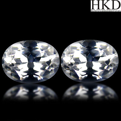 Lot de 2 Danburites 2.72Cts Certificat Identification HKD