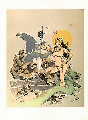 """1977 Full Color Plate """"Ghoul Queen"""" by Frank Frazetta Fantastic GGA"""