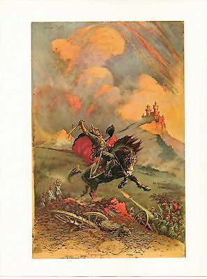 """1977 Full Color Plate """"The Mad King"""" by Frank Frazetta Fantastic GGA"""