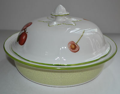 Villeroy &boch  Cascara -Country Collection Flat Covered Bowl