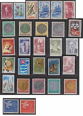 (OE-15) 1970-90 Luxemburg mix of 28stamps 3c to 6F (B)