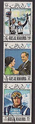 (OE-28) 1960-70 RASAL KHAIMA mix of 9 stamps