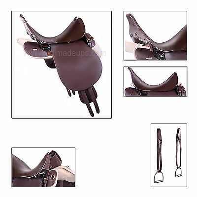 """UNIVERSAL PATTERN """"UP"""" Trooper / Military Saddle 19"""" - Pure Leather"""