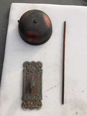 Antique Brass And Cast-Iron Original Finish Doorbell