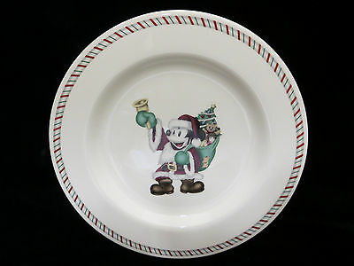 Disney Santa Mickey Mouse Christmas Dinnerware 1 Salad Dessert Plate New Holiday