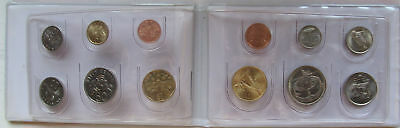 Malaysia set of 6 coins 1991-93 + Singapore set of 6 coins 1989-92 UNC