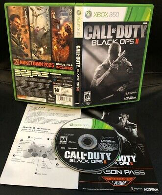 XBOX 360 ONE ✔ COD BLACK OPS II 2 ✔ WORKS GREAT & SHIPS TODAY! CALL OF DUTY war