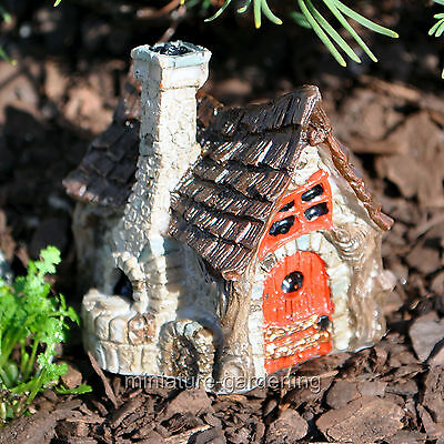 Miniature Fairy Garden Micro Bakery Cottage with Stone Oven