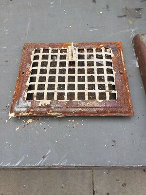 Gt 19 Antique Wall Grate 9 3/4 X11 3/4""