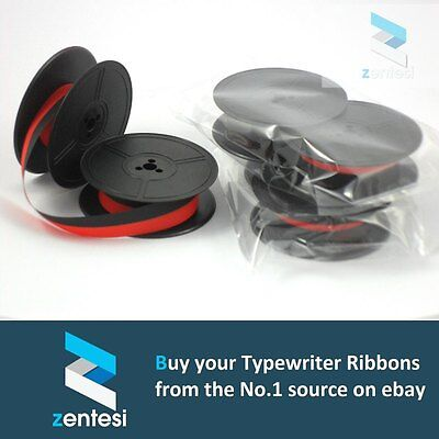 x3 Ribbons - Olympia SM8 Typewriter Ribbon - Red/Black or Plain Black