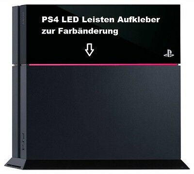 PS4 Lightbar Sticker PINK LED Leiste Aufkleber Playstation