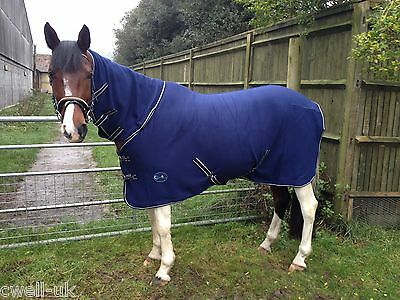 NEW Deluxe show combo fleece cooler full neck cover travel stable horse rugs