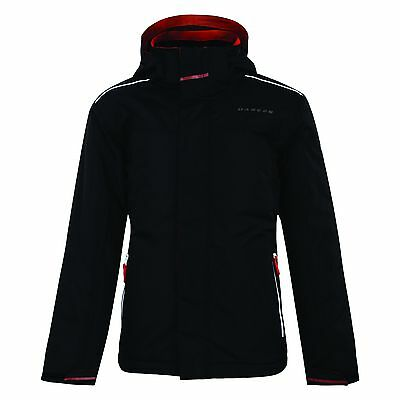 Boy's Dare 2B Provider Black Waterproof And Breathable Ski And Winter Jacket.