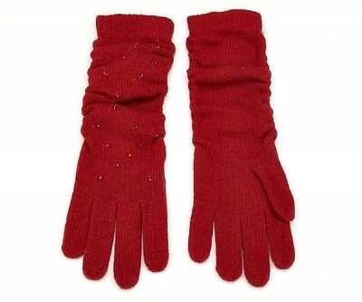 Gants/Gloves Femme/Woman mi-long 30% laine Rouge