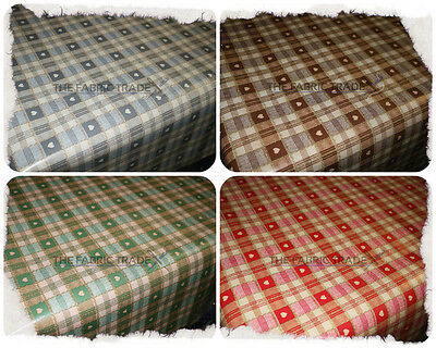 Wipe Clean Check Hearts Pvc Tablecloth Oilcloth Vinyl Fabric