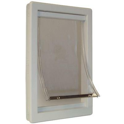 """NEW Ideal Pet Products SUPER LARGE XXL Lockable Dog Door 15"""" x 20"""" PPDSL White!"""