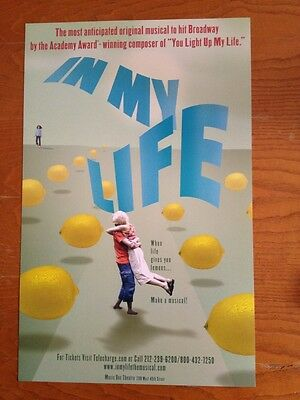 IN MY LIFE Window Card Poster Broadway Flop --MINT