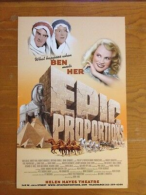 EPIC PROPORTIONS Kristin Chenoweth Broadway Window Card Poster Kristen Chenowith