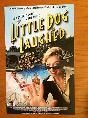LITTLE DOG LAUGHED Signed Window Card Poster Johnny Galecki (BIG BANG THEORY)
