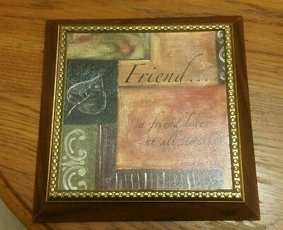 """""""Friend... a Friend loves at all times... Proverbs 17:17"""" Decorative Wall Plaque"""