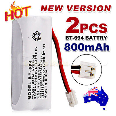 2x 800mAh 2.4V Cordless Phone for Uniden Battery BT-694 BT-694S Ni-MH