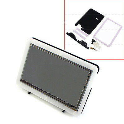 "New Hot Bracket for 7"" USB Capacitive Touch Screen LCD HDMI Raspberry Pi 2 B/B+"