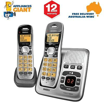 Uniden DECT1735+1 Twin Handset Cordless Home Phone with Answering Machine - NEW