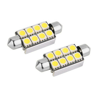 2X LED POWER 42mm Soffitte Lampe warm weiss 8 x 5050 SMD 12V Beleuchtung