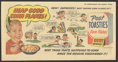 1951 - POST TOASTIES - Comic Newspaper ad  HONEST INJUN - also FRISKIES DOG FOOD