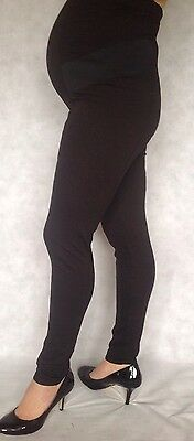 Ex H&M Mama Maternity Over Bump Tailored Style Black full Leggings sizes 6-22