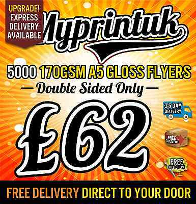 5000 A5 Gloss Flyers / Leaflets 170gsm Gloss ~ Double Sided