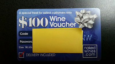 Wine Voucher $100 Naked Wines.com Gift Card Online Coupon Purchase Required