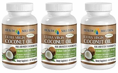 Pure Ingredients - Coconut Oil 3000 - Organic - Weight Loss - 3B 180Ct