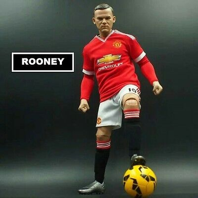WAYNE ROONEY #10 MANCHESTER UNITED FC 30 cm football action figures red devils