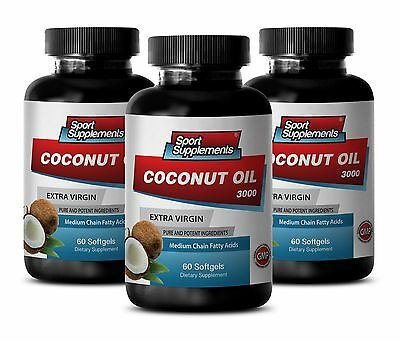 Coconut Oil Caps - Coconut Oil 3000 - 100% Pure Premium Grade 3B