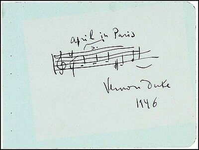 "Vernon DUKE (Composer): ""April in Paris"" AMQS"