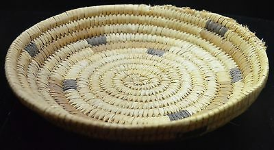 Genuine PAPAGO Indian Basket HAND-WOVEN 8""