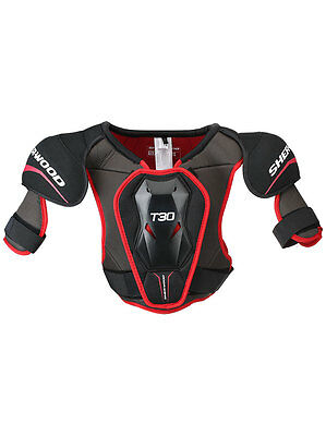 Sherwood Ice Hockey Shoulder Pads True Touch T30 Senior Black & Red Adult