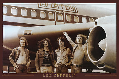 Led Zeppelin Airplane Group Music Poster Print, New, 36x24