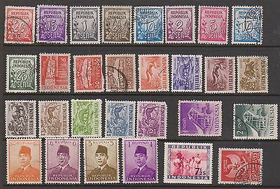 (OF-12) 1951-91 Indonesia mix of 54 stamps (A)