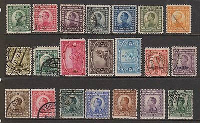 (OF-33) 1921 Yugoslavia mix of 41 stamps (A)